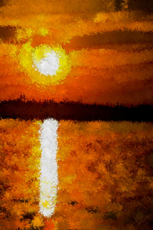 Impressionist Sunset Painting By Bruce Nutting