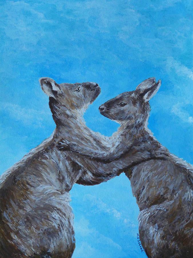 Kangaroo Island Kangaroos Painting By Margaret Saheed