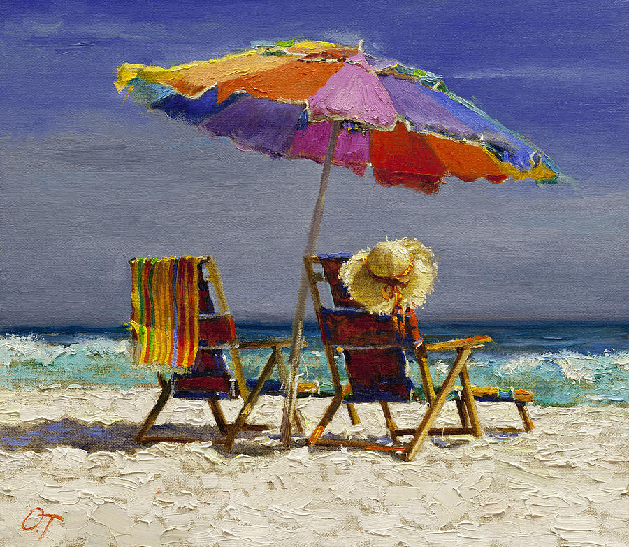 Paintings Beach Chair Sand