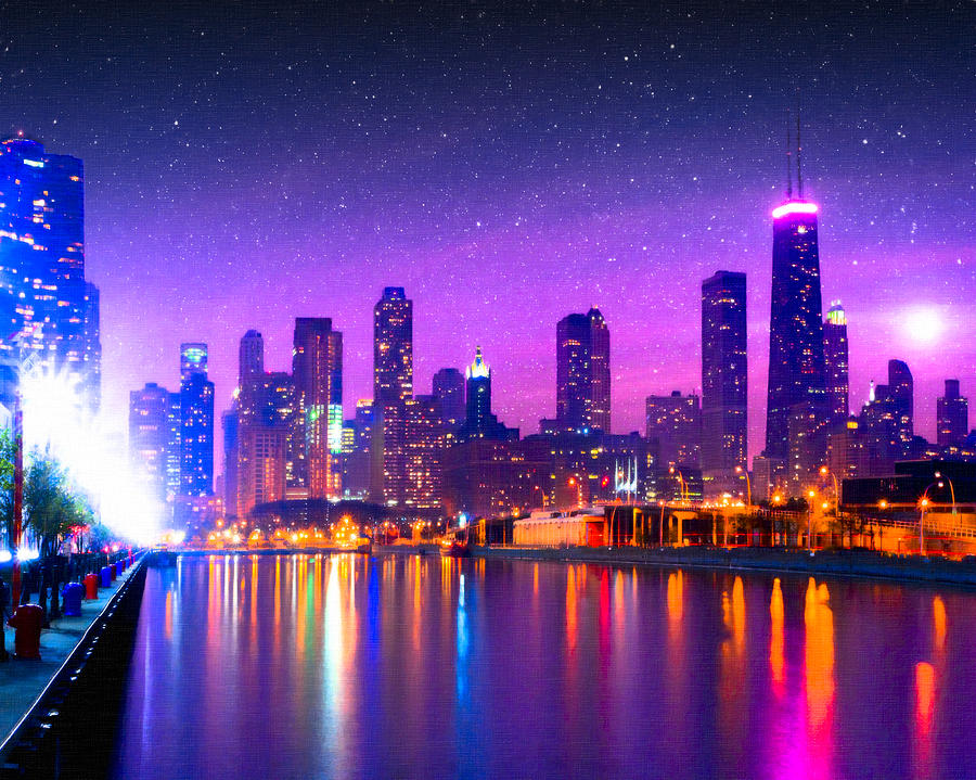 One Magical Night In The Windy City Chicago Skyline