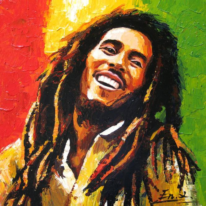 original painting bob marley enxu zhou - TOP 10 BOB MARLEY SONGS