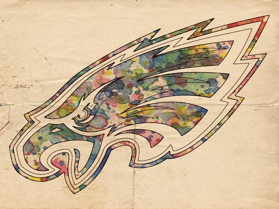 philadelphia eagles poster vintage by florian rodarte