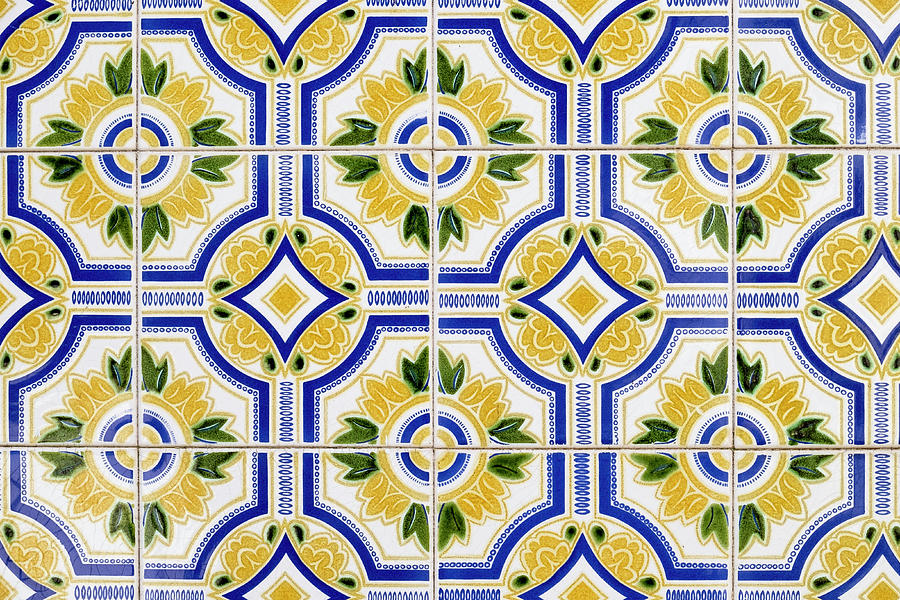portugal aveiro blue and yellow tile by emily wilson