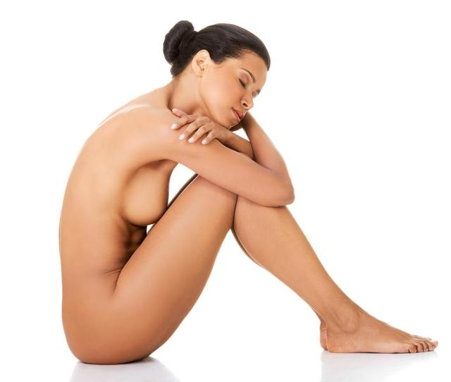 Sexy Fit Naked Woman With Healthy Clean Skin Sitting Photograph By B D S