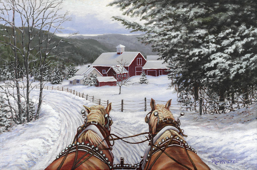 Sleigh Bells Painting By Richard De Wolfe