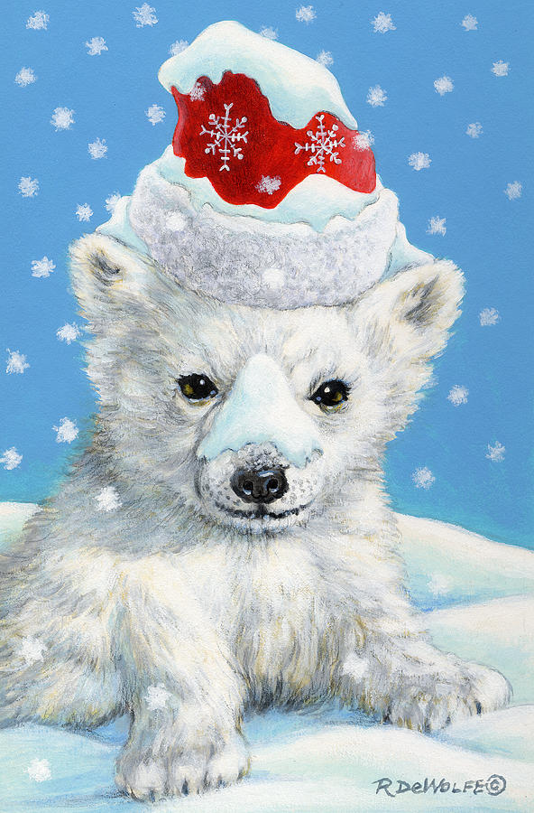 Sno Bear Painting By Richard De Wolfe