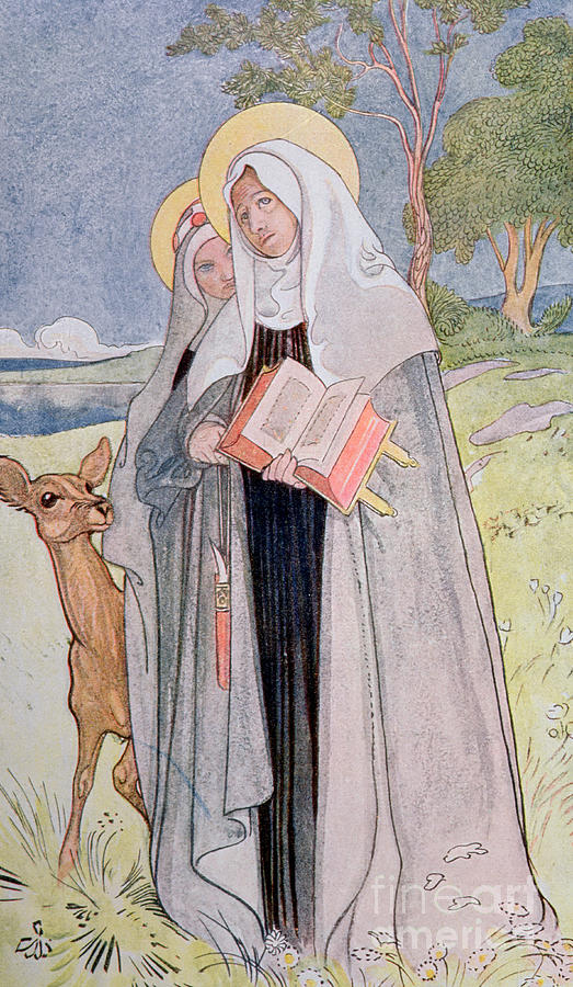 St Bridget Of Sweden Painting By Carl Larsson