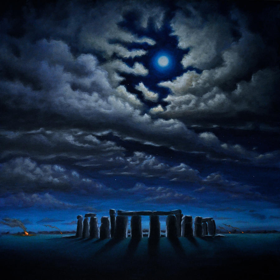 Stonehenge The Peoples Circle Painting By Ric Nagualero