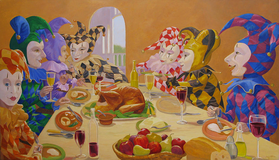 The Dinner Party Painting By Leonard Filgate