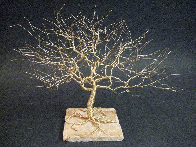 Tree Of Life Sculpture In Wire Art Sculpture By Ken Phillips