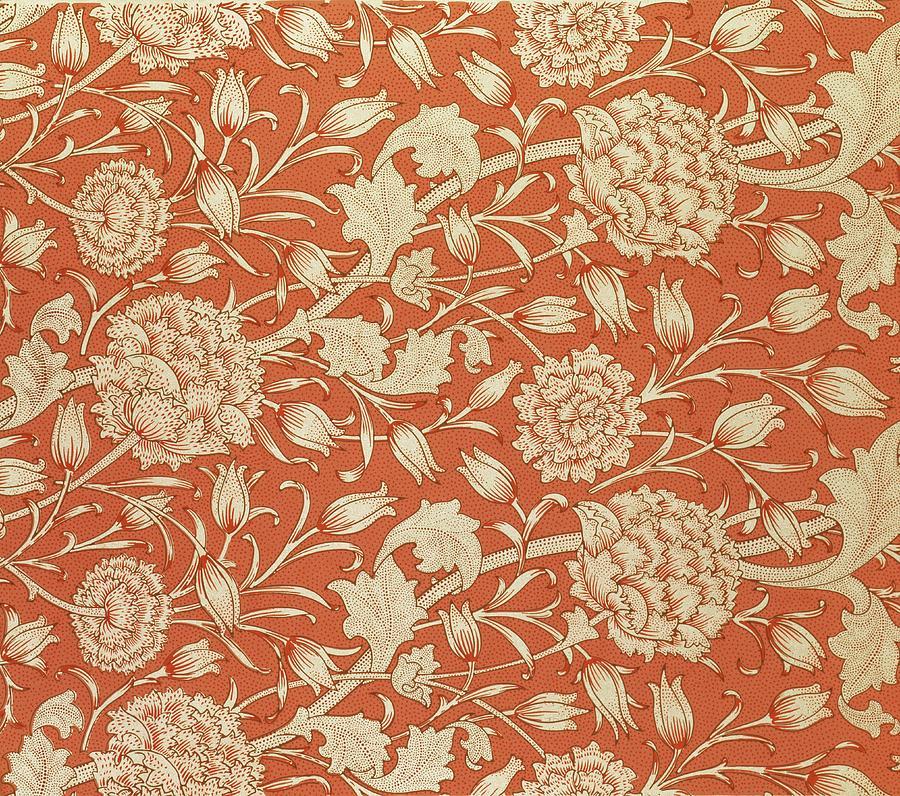 Tulip Wallpaper Design Tapestry Textile By William Morris