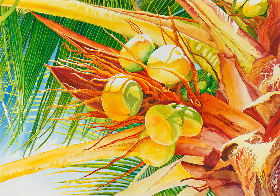 Under The Coconut Palm Painting By Janis Grau