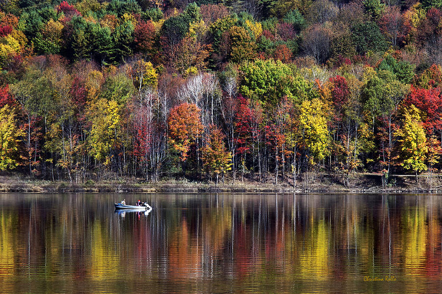 Vanishing Autumn Reflection Landscape Canvas Art for Sale