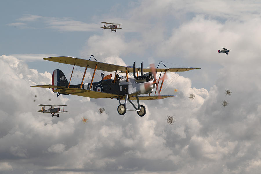 Ww1 Re8 Aircraft Digital Art By Pat Speirs