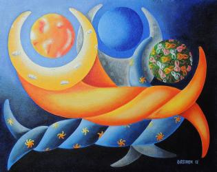 You Are The One My Moon My Stars My Sun Painting by Oswaldo Cevallos