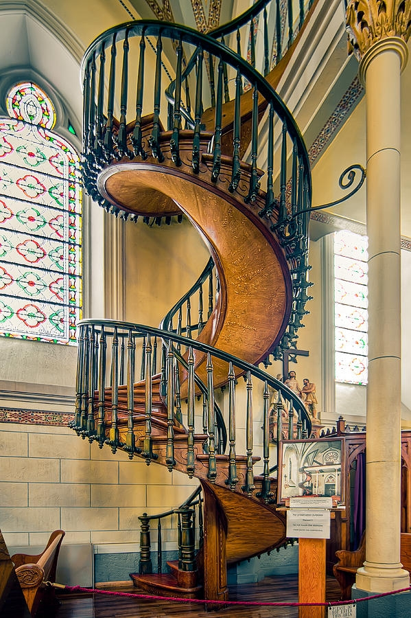 Loretto Chapel Staircase Photograph By Anna Rumiantseva   Stairs Of Loretto Chapel