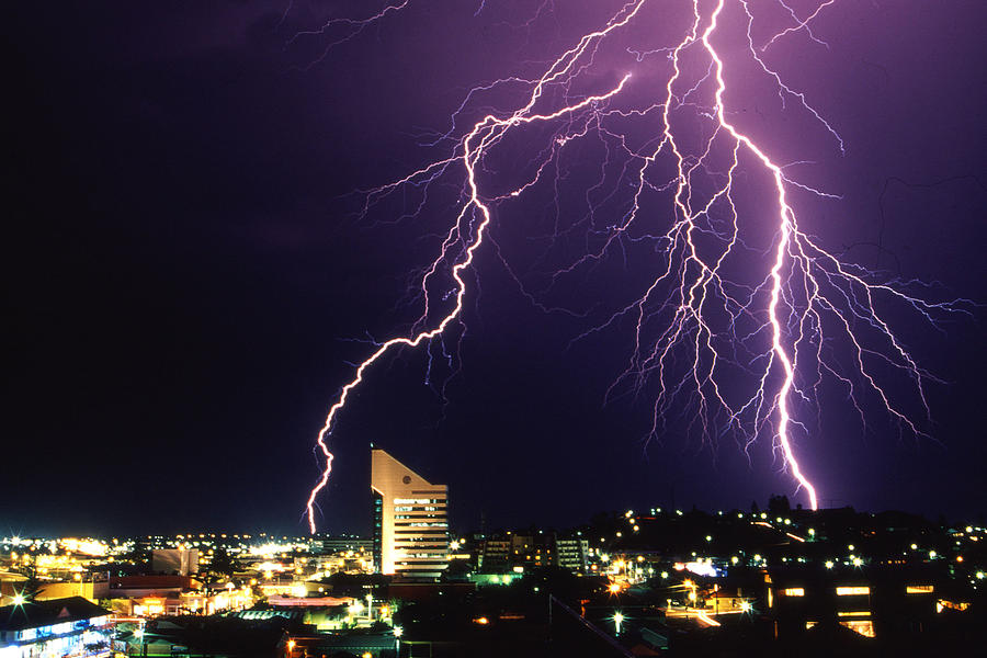 Forked Lightning Photograph By Robert Caddy