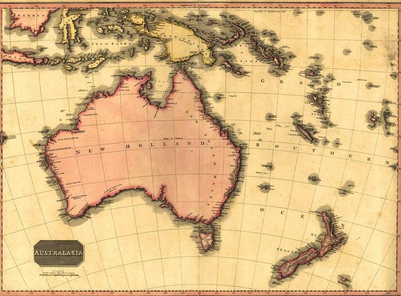 1818 Map Of Australia  Still Using Photograph by Everett History Photograph   1818 Map Of Australia  Still Using by Everett