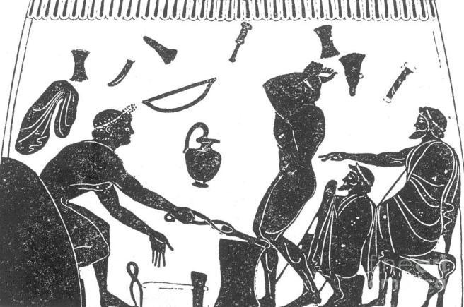 Image result for ancient greek blacksmith vase