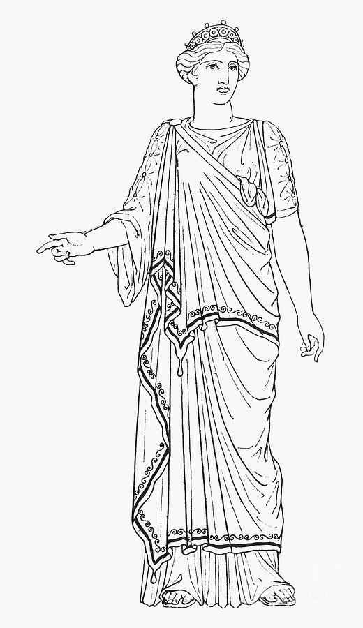Hera Greek Goddess Drawings