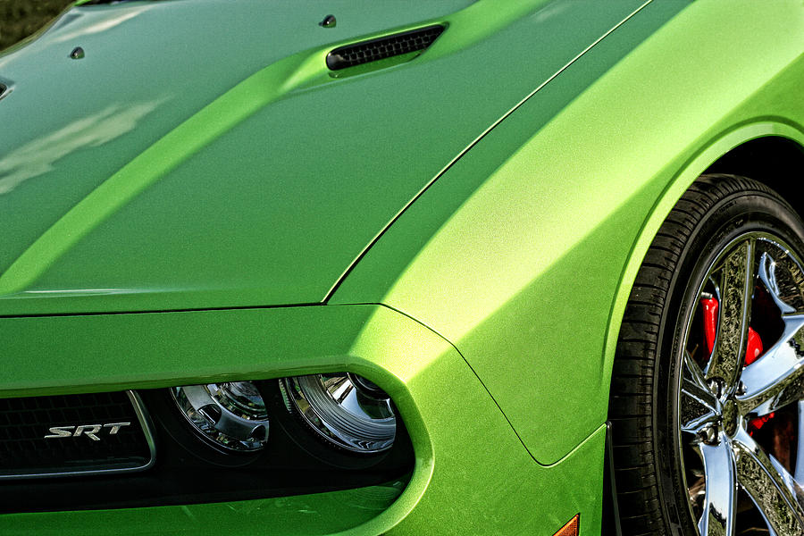2011 Dodge Challenger Srt8 Green With Envy Photograph By