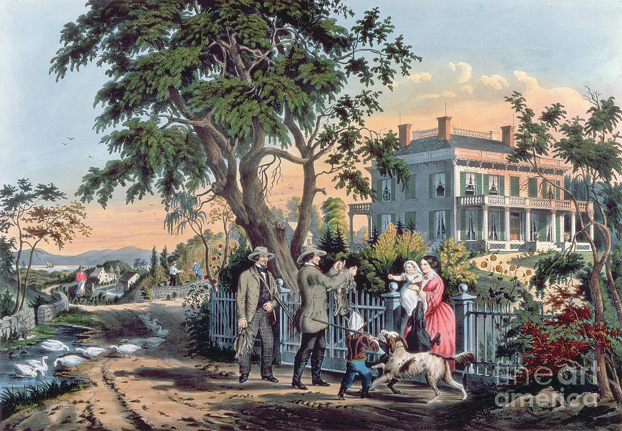 After The Hunt Painting By Currier And Ives