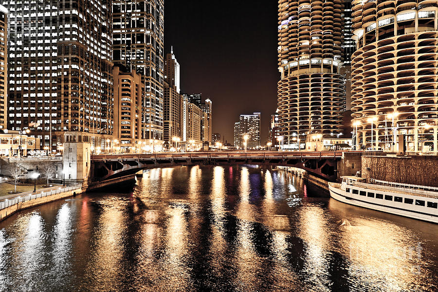 Chicago Skyline At State Street Bridge Photograph By Paul
