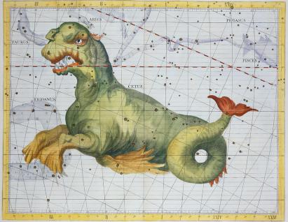 Constellation of Cetus the Whale Drawing by James Thornhill