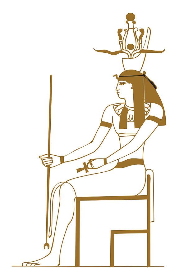 Digital Illustration Of Ancient Egyptian Earth God Geb Digital Art By Dorling Kindersley