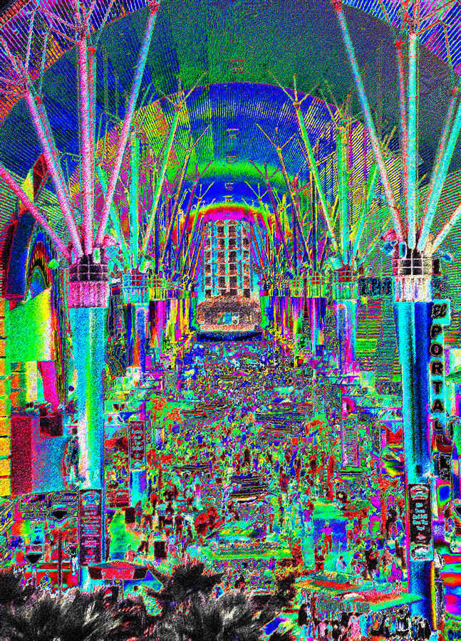 Fremont Street Experience Nevada Painting By David Lee