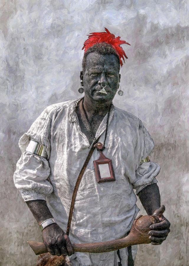Warrior Digital Art - French And Indian War Reenactor Portrait One by Randy Steele