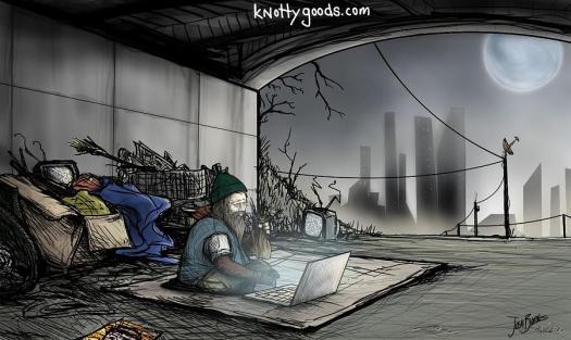 Homeless Painting Laptop By Josh Burns