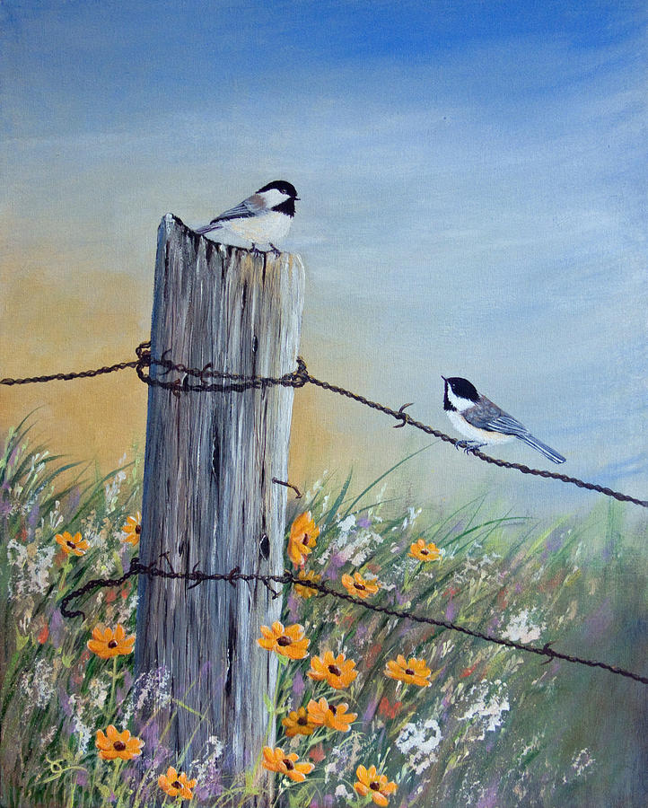 Meeting At The Old Fence Post Painting By Dee Carpenter