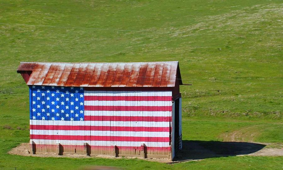 Patriotic Barn by Kerry Reed