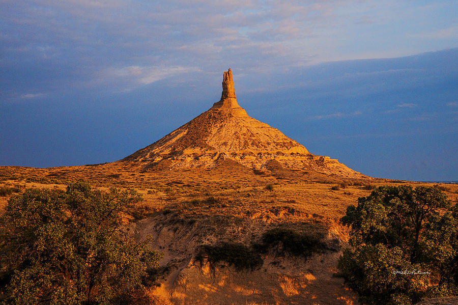 Sunrise At Chimney Rock Photograph By Edward Peterson