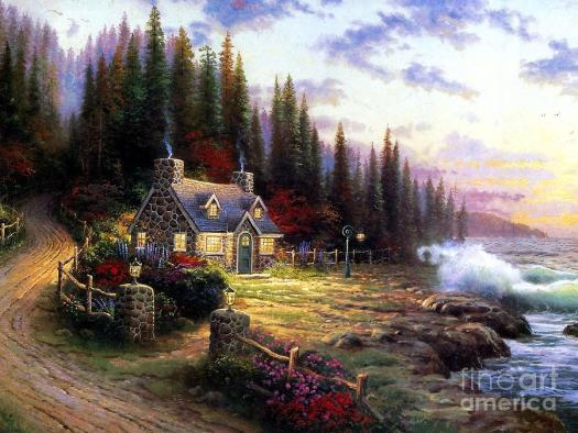 Landscape Painting Sweet Home By Vishal Lakhani