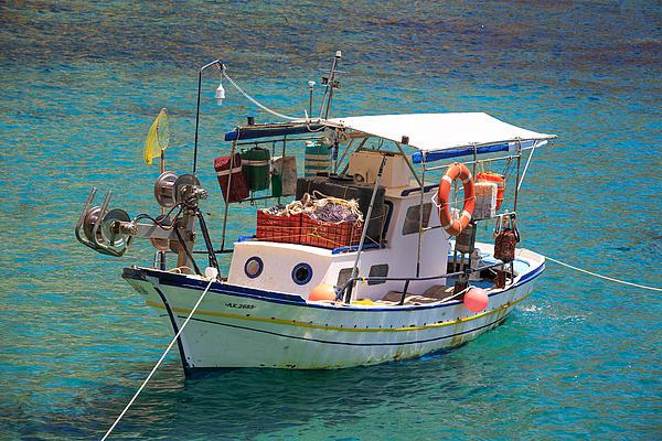 Greek fishing boat  Photograph