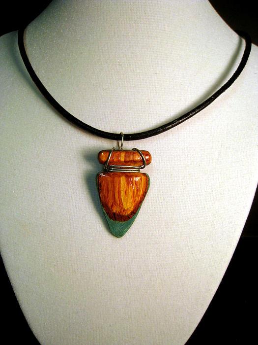 Wood Veneer Arrowhead Necklace Jewelry