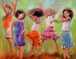 Children Art - Spring Fever by Mary Leslie