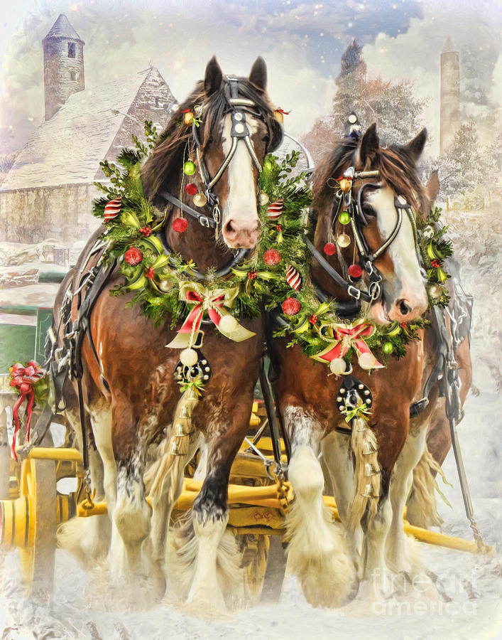 Christmas Clydesdales Digital Art By Trudi Simmonds