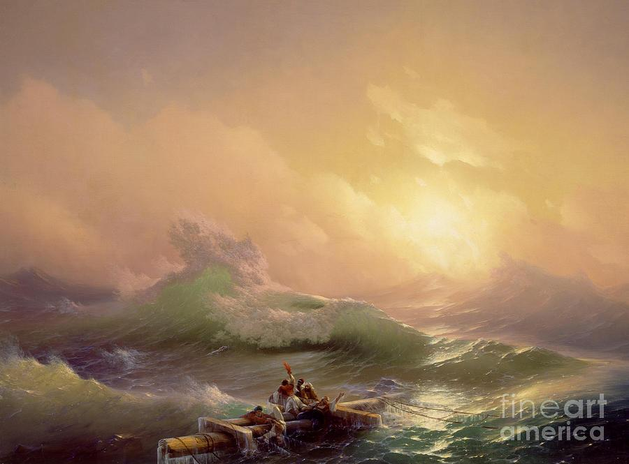 The Ninth Wave Painting by Ivan Konstantinovich Aivazovsky