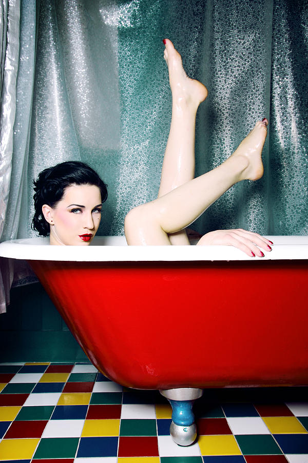 Bath Tub Pin Up Photograph By Jane Queen