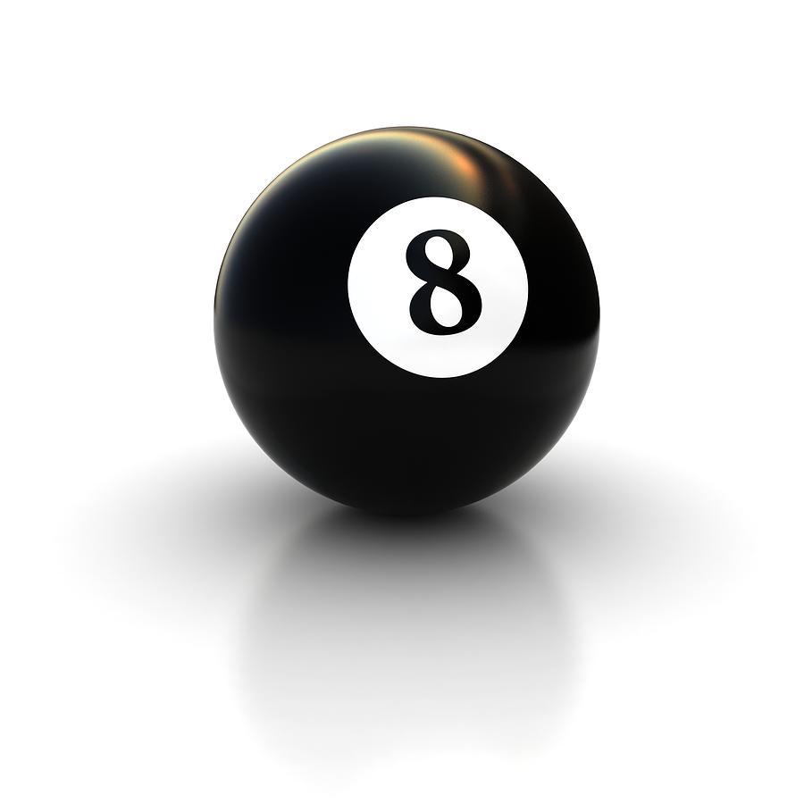 black pool billiard ball number 8 digital artmr sizsus
