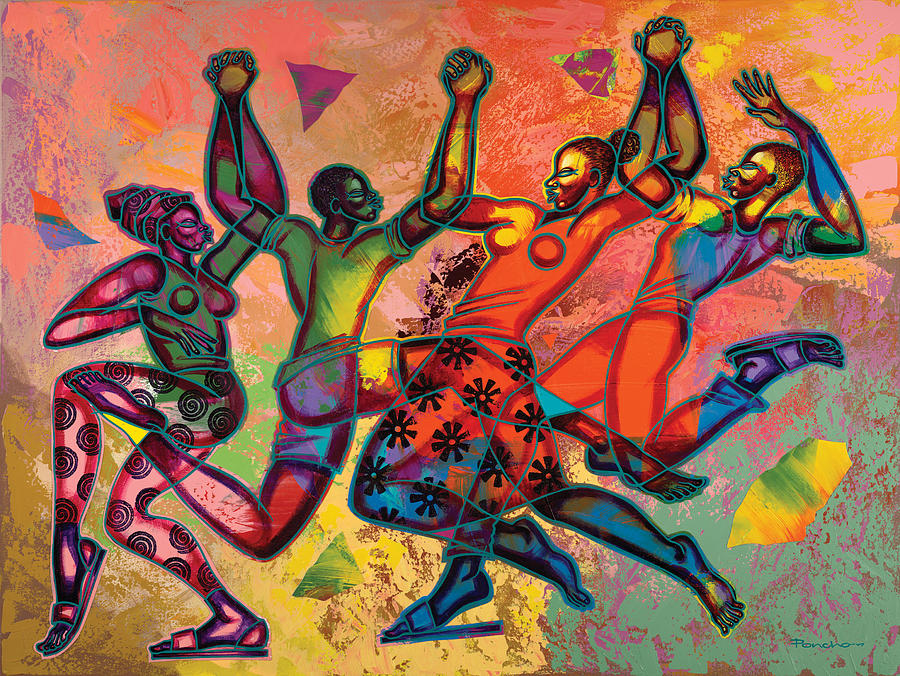 Celebrate Freedom Painting By Larry Poncho Brown