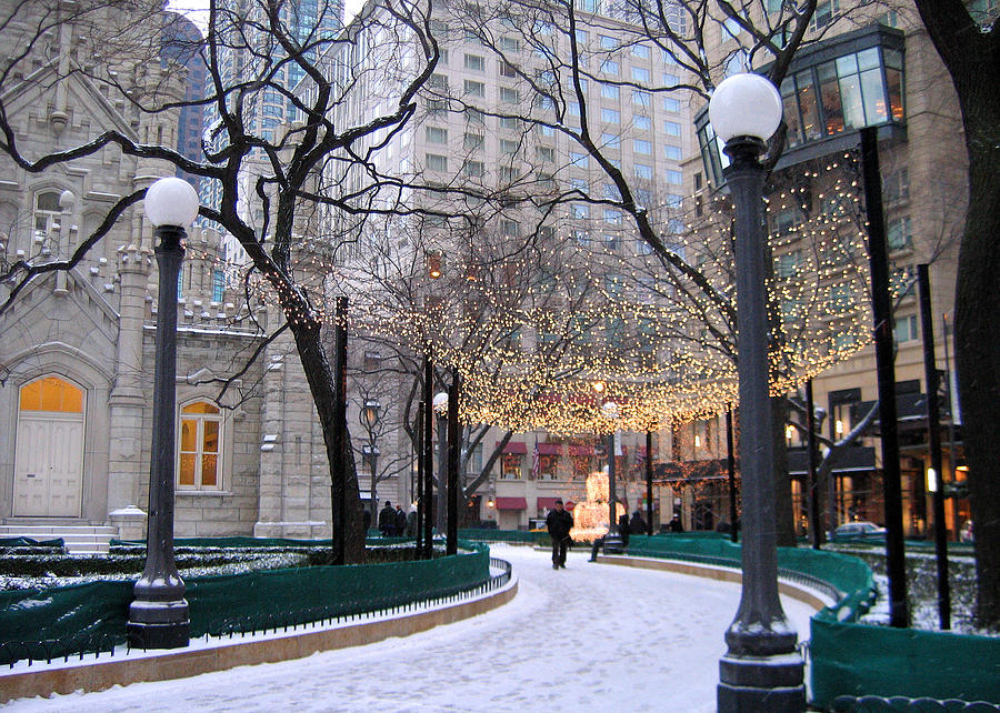 Christmas In Chicago Photograph By Laura Kinker