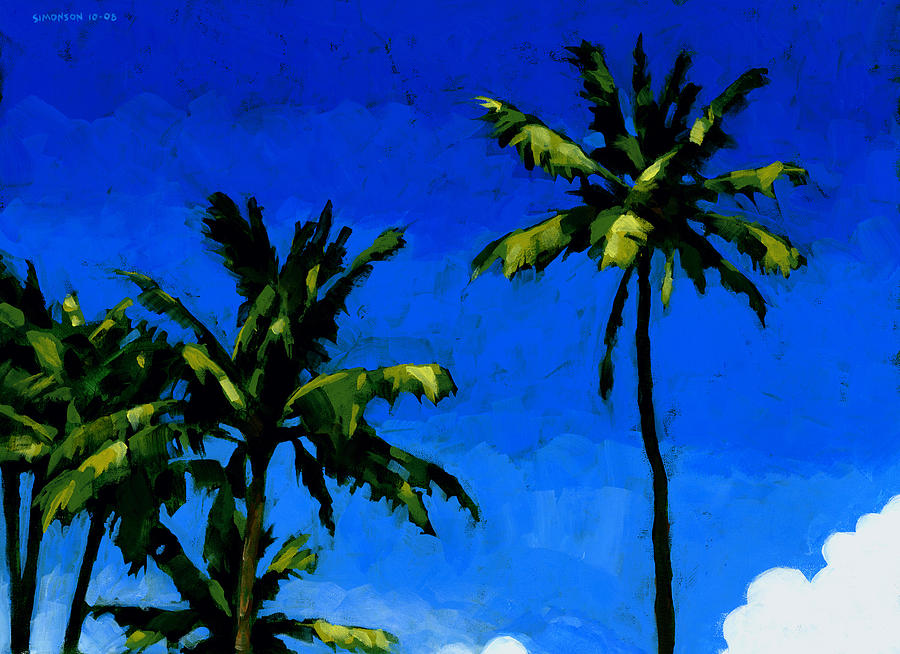 Coconut Palms 5 Painting By Douglas Simonson