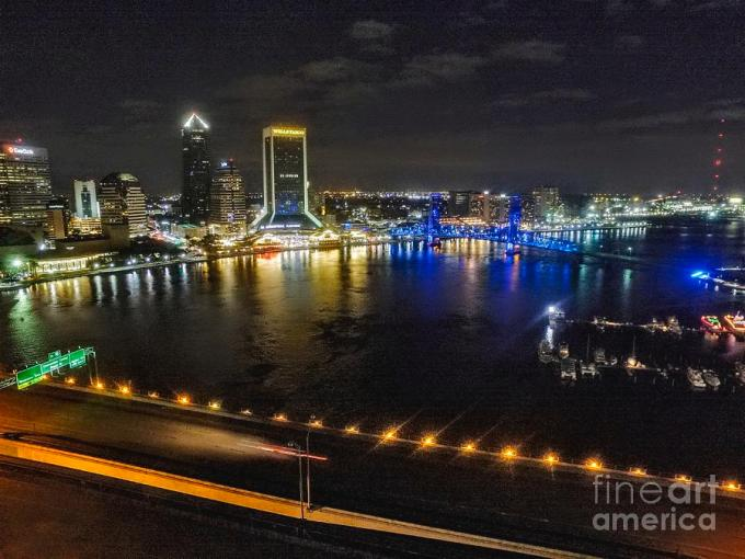 Downtown Jacksonville From The Acosta Bridge Photograph By Austin Fedewa