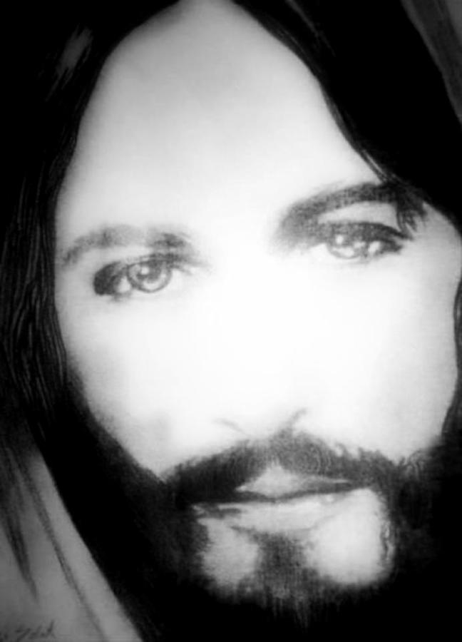 Face of Jesus Drawing by Susan Solak