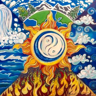 Five Elements Painting by Michell Rosenthal