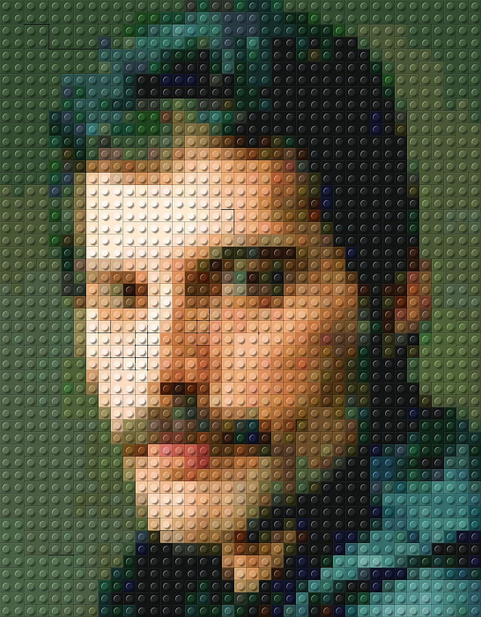 Freddie Mercury Lego Mosaic Photograph by Paul Van Scott Freddie Mercury Photograph   Freddie Mercury Lego Mosaic by Paul Van Scott